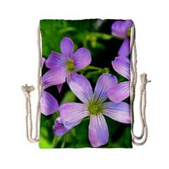 Little Purple Flowers 2 Drawstring Bag (small) by timelessartoncanvas