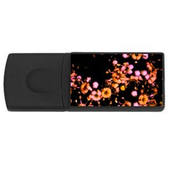 Little Peach And Pink Flowers Usb Flash Drive Rectangular (4 Gb)  by timelessartoncanvas