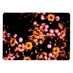 Little Peach And Pink Flowers Samsung Galaxy Tab 10 1  P7500 Flip Case by timelessartoncanvas
