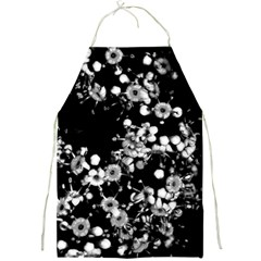 Little Black And White Flowers Full Print Aprons by timelessartoncanvas