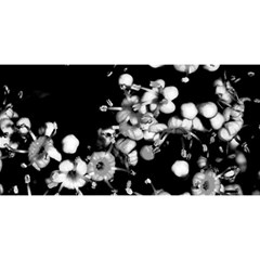 Little Black And White Flowers You Are Invited 3d Greeting Card (8x4)
