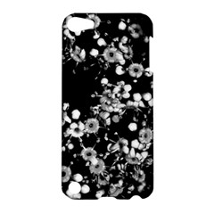 Little Black And White Flowers Apple Ipod Touch 5 Hardshell Case by timelessartoncanvas