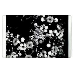Little Black And White Flowers Apple Ipad 3/4 Flip Case by timelessartoncanvas
