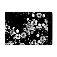 Little Black And White Flowers Apple Ipad Mini Flip Case by timelessartoncanvas