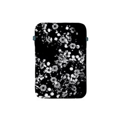Little Black And White Flowers Apple Ipad Mini Protective Soft Cases by timelessartoncanvas