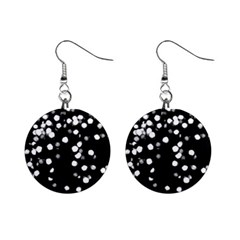 Little Black And White Dots Mini Button Earrings by timelessartoncanvas