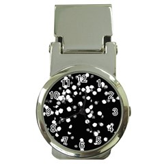 Little Black And White Dots Money Clip Watches by timelessartoncanvas