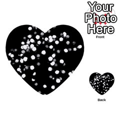 Little Black And White Dots Multi Purpose Cards (heart)