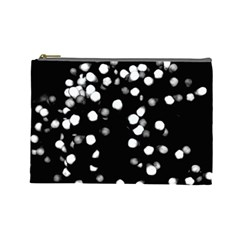 Little Black And White Dots Cosmetic Bag (large)  by timelessartoncanvas