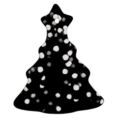 Little Black And White Dots Christmas Tree Ornament (2 Sides) by timelessartoncanvas