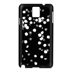 Little Black And White Dots Samsung Galaxy Note 3 N9005 Case (black) by timelessartoncanvas