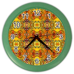 Roof Color Wall Clocks by MRTACPANS