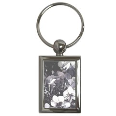 Gray Tone Black White Orchid Trim Charm (rectangle) by lynngrayson