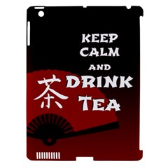 Keep Calm And Drink Tea   Dark Asia Edition Apple Ipad 3/4 Hardshell Case (compatible With Smart Cover)