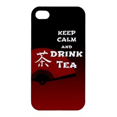 Keep Calm And Drink Tea   Dark Asia Edition Apple Iphone 4/4s Premium Hardshell Case