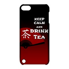 Keep Calm And Drink Tea   Dark Asia Edition Apple Ipod Touch 5 Hardshell Case With Stand