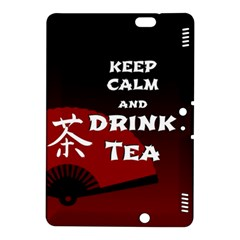 Keep Calm And Drink Tea   Dark Asia Edition Kindle Fire Hdx 8 9  Hardshell Case