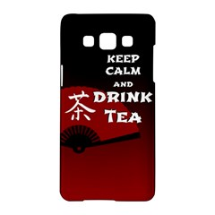 Keep Calm And Drink Tea   Dark Asia Edition Samsung Galaxy A5 Hardshell Case