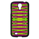 Bright Green Pink Geometric Samsung Galaxy S4 I9500/ I9505 Case (Black)
