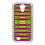 Bright Green Pink Geometric Samsung GALAXY S4 I9500/ I9505 Case (White)