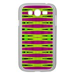 Bright Green Pink Geometric Samsung Galaxy Grand DUOS I9082 Case (White)