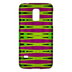 Bright Green Pink Geometric Galaxy S5 Mini by BrightVibesDesign