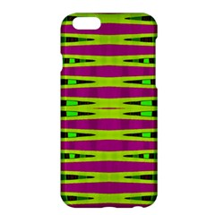 Bright Green Pink Geometric Apple Iphone 6 Plus/6s Plus Hardshell Case by BrightVibesDesign