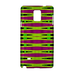 Bright Green Pink Geometric Samsung Galaxy Note 4 Hardshell Case by BrightVibesDesign
