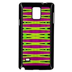 Bright Green Pink Geometric Samsung Galaxy Note 4 Case (black)