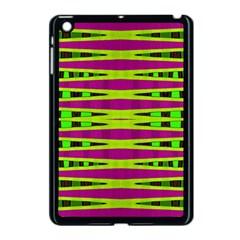 Bright Green Pink Geometric Apple Ipad Mini Case (black)