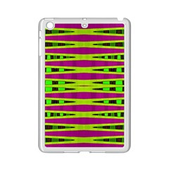 Bright Green Pink Geometric Ipad Mini 2 Enamel Coated Cases