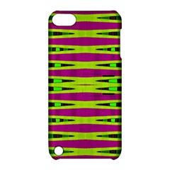 Bright Green Pink Geometric Apple Ipod Touch 5 Hardshell Case With Stand by BrightVibesDesign