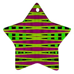 Bright Green Pink Geometric Ornament (star)