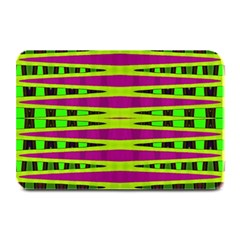 Bright Green Pink Geometric Plate Mats