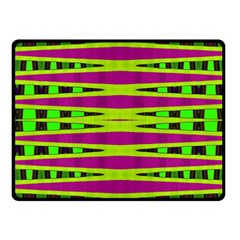 Bright Green Pink Geometric Fleece Blanket (small)