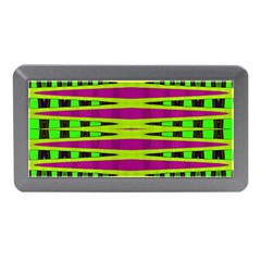 Bright Green Pink Geometric Memory Card Reader (Mini) by BrightVibesDesign