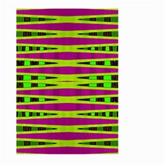 Bright Green Pink Geometric Large Garden Flag (two Sides)