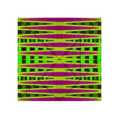 Bright Green Pink Geometric Acrylic Tangram Puzzle (4  x 4 ) by BrightVibesDesign