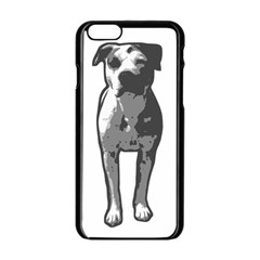 Pit Bull T Bone Graphic  Apple Iphone 6/6s Black Enamel Case by ButThePitBull