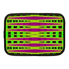 Bright Green Pink Geometric Netbook Case (medium)