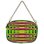 Bright Green Pink Geometric Chain Purses (Two Sides)  Front