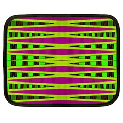 Bright Green Pink Geometric Netbook Case (xxl)