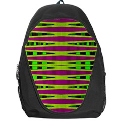 Bright Green Pink Geometric Backpack Bag