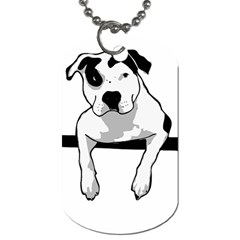 Pit Bull T Bone Graphic  Dog Tag (one Side) by ButThePitBull