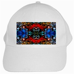 Colorful  Underwater Plants Pattern White Cap by Costasonlineshop