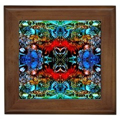 Colorful  Underwater Plants Pattern Framed Tiles by Costasonlineshop