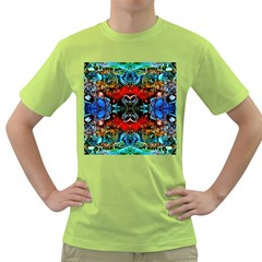 Colorful  Underwater Plants Pattern Green T Shirt