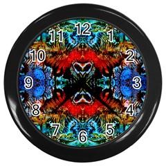 Colorful  Underwater Plants Pattern Wall Clocks (black)