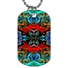 Colorful  Underwater Plants Pattern Dog Tag (two Sides) by Costasonlineshop