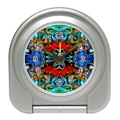 Colorful  Underwater Plants Pattern Travel Alarm Clocks by Costasonlineshop